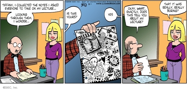 Comic Strip Greg Evans  Luann 2009-02-01 yes