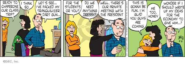 Comic Strip Greg Evans  Luann 2009-02-06 gun