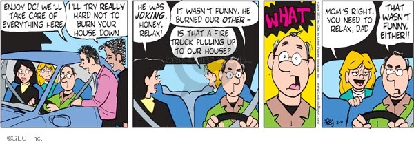 Comic Strip Greg Evans  Luann 2009-02-09 dad
