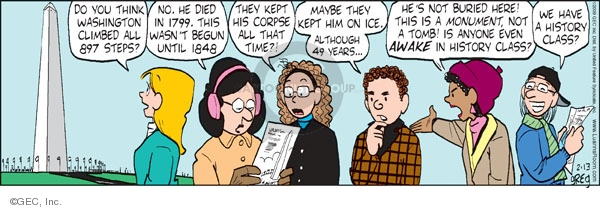 Comic Strip Greg Evans  Luann 2009-02-13 think