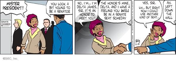 Cartoonist Greg Evans  Luann 2009-02-19 Mister