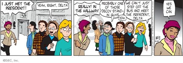 Comic Strip Greg Evans  Luann 2009-02-20 president