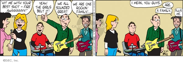 Comic Strip Greg Evans  Luann 2009-02-27 parent