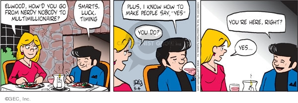 Comic Strip Greg Evans  Luann 2009-03-04 restaurant