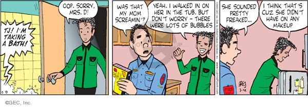 Comic Strip Greg Evans  Luann 2009-03-12 worry