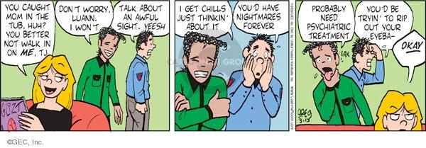 Comic Strip Greg Evans  Luann 2009-03-13 post