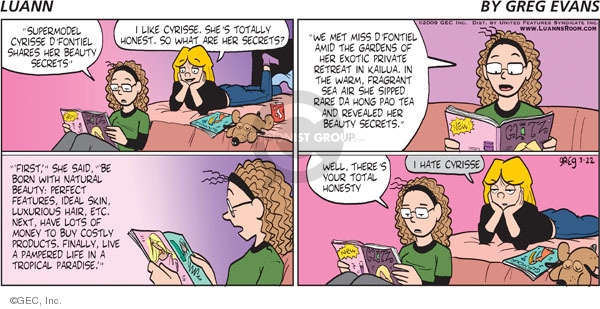 Comic Strip Greg Evans  Luann 2009-03-22 care