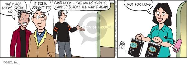 Comic Strip Greg Evans  Luann 2009-03-17 White House