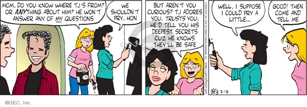 Comic Strip Greg Evans  Luann 2009-03-18 hon