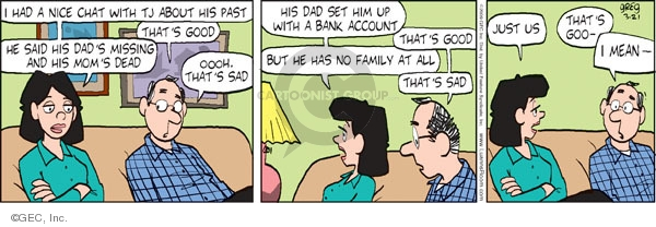 Comic Strip Greg Evans  Luann 2009-03-21 family