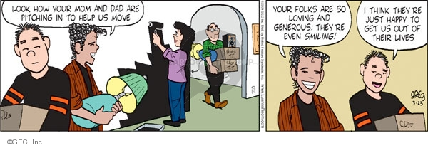 Comic Strip Greg Evans  Luann 2009-03-23 mother