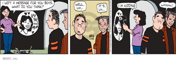 Comic Strip Greg Evans  Luann 2009-03-24 painting