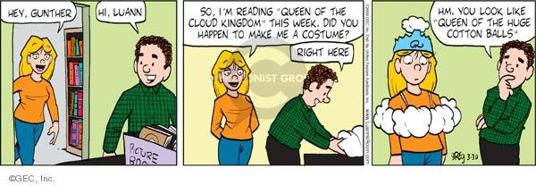 Comic Strip Greg Evans  Luann 2009-03-30 week