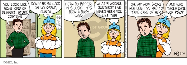 Comic Strip Greg Evans  Luann 2009-03-31 family