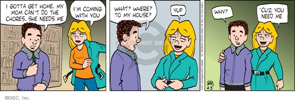 Comic Strip Greg Evans  Luann 2009-04-03 friend