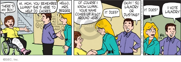 Comic Strip Greg Evans  Luann 2009-04-06 boy
