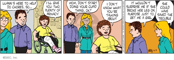 Comic Strip Greg Evans  Luann 2009-04-07 plenty