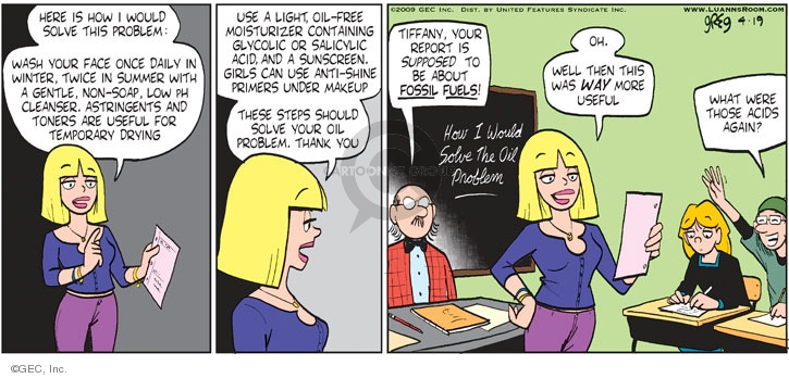Comic Strip Greg Evans  Luann 2009-04-19 school