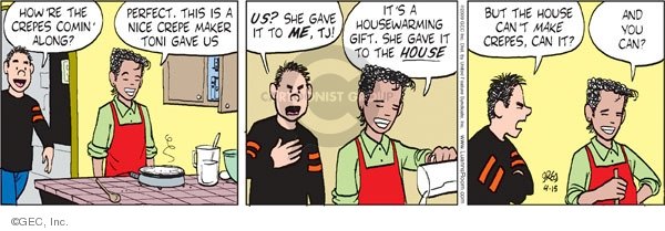 Comic Strip Greg Evans  Luann 2009-04-15 make