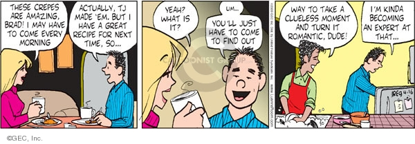 Comic Strip Greg Evans  Luann 2009-04-16 romantic