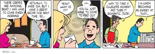 Comic Strip Greg Evans  Luann 2009-04-16 romance