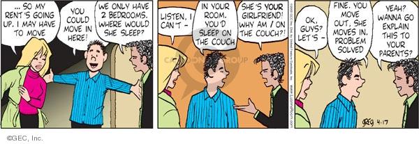 Comic Strip Greg Evans  Luann 2009-04-17 would