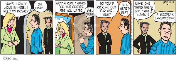 Comic Strip Greg Evans  Luann 2009-04-18 guy