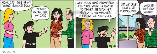 Cartoonist Greg Evans  Luann 2009-04-21 pleasure