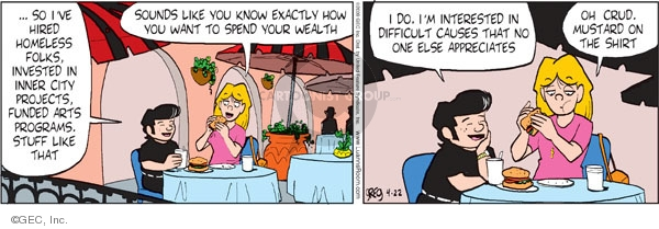 Comic Strip Greg Evans  Luann 2009-04-22 money