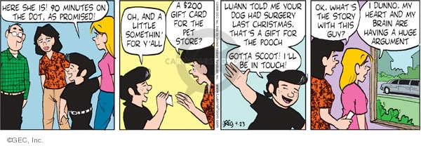 Comic Strip Greg Evans  Luann 2009-04-23 gift
