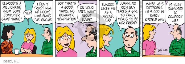 Comic Strip Greg Evans  Luann 2009-04-25 romantic