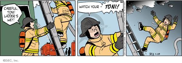 Comic Strip Greg Evans  Luann 2009-04-29 careful