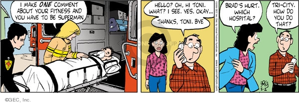 Comic Strip Greg Evans  Luann 2009-05-02 hospital