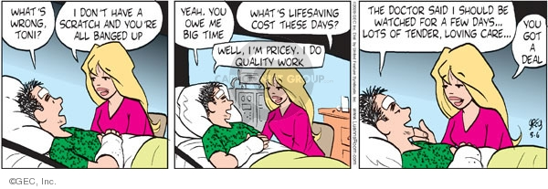 Comic Strip Greg Evans  Luann 2009-05-06 hospital