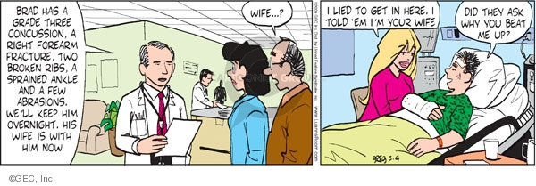 Comic Strip Greg Evans  Luann 2009-05-04 hospital