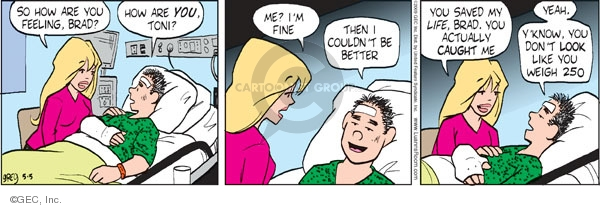 Comic Strip Greg Evans  Luann 2009-05-05 hospital