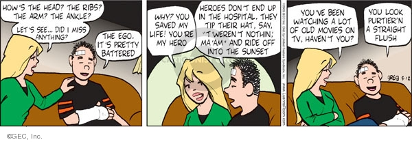 Comic Strip Greg Evans  Luann 2009-05-12 hospital