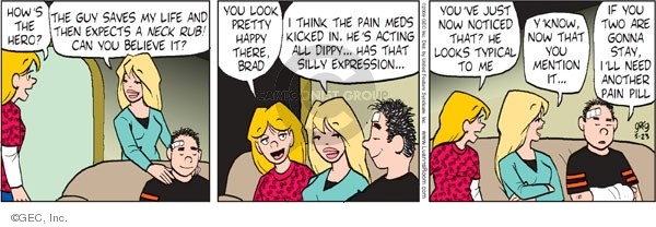 Comic Strip Greg Evans  Luann 2009-05-23 think