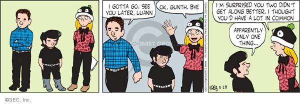 Cartoonist Greg Evans  Luann 2009-05-28 apparently