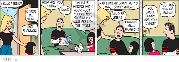 Comic Strip Greg Evans  Luann 2009-06-15 wanna