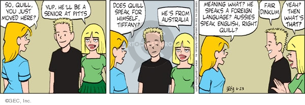 Comic Strip Greg Evans  Luann 2009-06-23 Australia