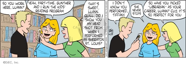 Comic Strip Greg Evans  Luann 2009-06-25 time