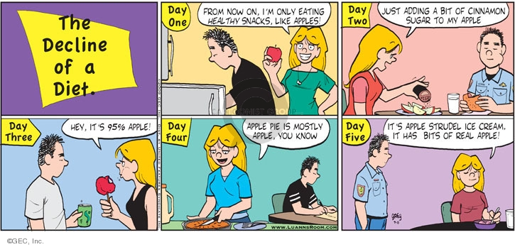 Comic Strip Greg Evans  Luann 2009-07-05 decline