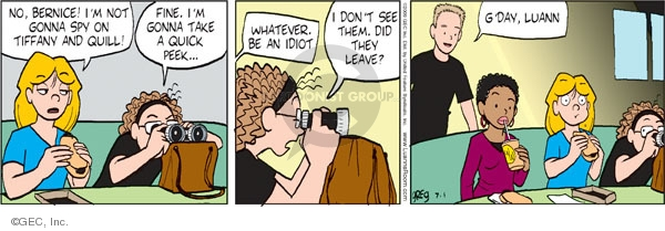 Comic Strip Greg Evans  Luann 2009-07-01 take