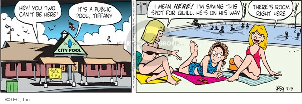 Comic Strip Greg Evans  Luann 2009-07-07 quill
