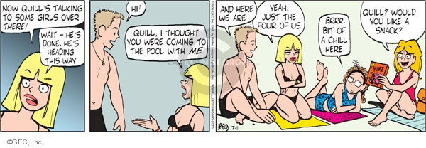 Comic Strip Greg Evans  Luann 2009-07-11 chill