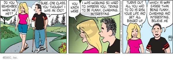 Comic Strip Greg Evans  Luann 2009-07-15 romance