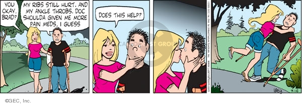 Comic Strip Greg Evans  Luann 2009-07-16 kiss