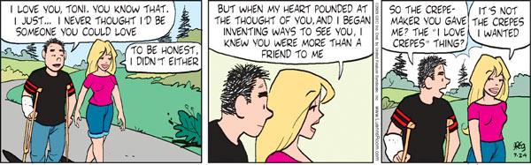 Comic Strip Greg Evans  Luann 2009-07-24 romance