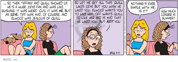 Comic Strip Greg Evans  Luann 2009-08-03 date